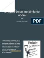 Evaluación del Rendimiento Laboral - Eduardo Atri Cojab