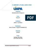 Administración de Empresa I (Tarea IV)