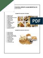 Alimentos Hechos Con Maiz y Soya