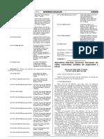 aprobacion normas peruanas 2016