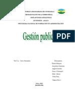 El Ciclo de La Gestion Publica