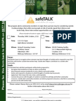SafeTalk-CommunityAlertness 23rd Nov