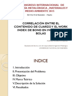 Presentación CONIMETM Work Index de Bond