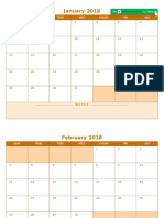 IC 2018 Blank Monthly Calendar Template 8512