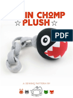 Chain Chomp Plush Sewing Pattern