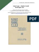 Tomcsanyi Lajos Jambor Laszlo Szent Ignac Vize 1