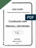 Coordinacion Entre Primaria y Secundaria