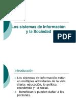 Los Sistemas de Información y la Sociedad