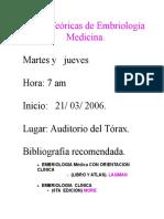Reglamentos, Sistema de Evaluacion de Embriología
