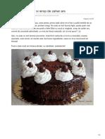 Laurasweets.ro-tort Cu Ciocolata Si Sirop de Zahar Ars