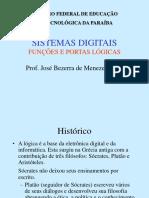 PORTAS LÓGICAS