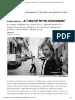 """'Esa Puta Tan Distinguida'_ Juan Marsé_ """"La Transición Decretó La Desmemoria"""" _ Babelia _ EL PAÍS"""