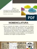 Formulación y Nomenclatura en Química Inorgánica