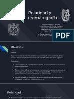 Polaridad y Cromatografía