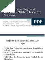 Requisitos Para El Ingreso de Alimentos a EEUU Con Respecto a Pesticidas