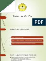 Resume Mc Pie