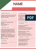 Resume template for fresh grads