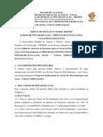 EDITAL No 03-2018 - PROPEP - Pos-Graduacao Uneal Especializa - Vagas Remanescentes