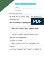 Cuestionario - Derecho Administrativo I