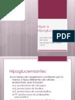 Hiper e Hipoglucemientes orales