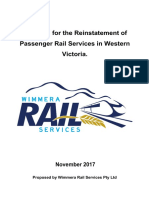 Proposal for the Reinstatement of Passenger Rail Services in Western Victoria November 2017