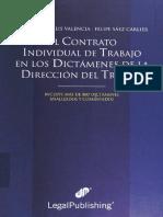 El Contrato Individual de Trabajo en Los Dictamenes Del La Dir. Del Trabajo Año 2009 (18278)