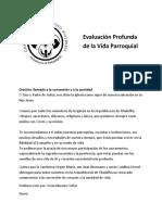 Booklet in Depth Eval of Parish Life Spanish