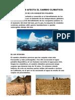 Como Nos Afecta El Cambio Climatico