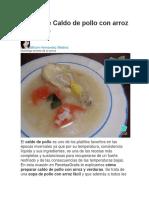 Receta de Sopa de Langosta