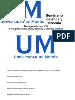 Monografia Etica, Derecho y Practica Juridica