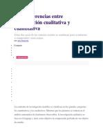 Las 9 Diferencias Entre Investigación Cualitativa y Cuantitativa
