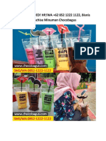 RECOMMENDED! HP/WA +62 852 1222 1122, Bisnis Franchise Minuman Chocobagus