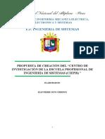 """PROPUESTA DE CREACIÓN DEL """"CENTRO DE INVESTIGACIÓN DE LA ESCUELA PROFESIONAL DE INGENIERÍA DE SISTEMAS (CIEPIS) """""""