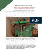 Materiais - Tubos e conexões para água quente