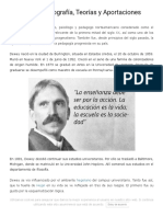 John Dewey_ Biografía, Teorías y Aportaciones - Lifeder