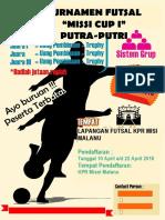 Desain Pamflet Futsal CorelDRAW