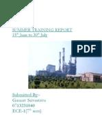 Ntpc Summer Training Report