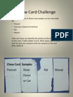 Chew Card Challenge