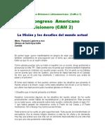 La Misión y los desafíos del mundo actual (CAM2)_Francois La