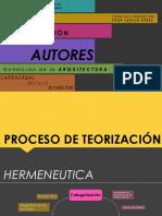 Larrazabal, Revilla, Rondon Proceso de Teorizacion