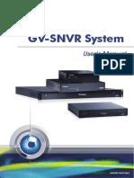 Gv Snvr User Manual(Snvr0811v250 Um a)