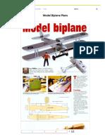 Model Biplane Plans • WoodArchivist