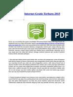 Belajar Trik Internet Gratis Terbaru Bagi Pemulax
