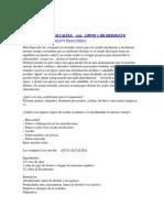 Hábitos-Agua Alcalina Con Limon y Bicarbonato