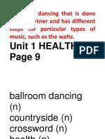 Unit 1 Health