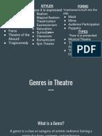 genres from understanding theatre