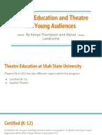theatre ed and tya