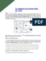 Cara Membuat Aplikasi Trace Route Ping Dengan Delphi 7