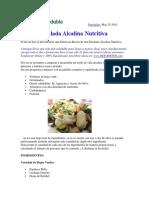 Lunchsaludable-Ensalada Alcalina Nutritiva