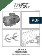 Installation and Maintenance LSF46.2 Alternator
